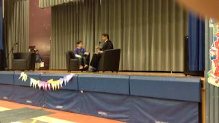 Grenoble PS students interview Director of Education Peter Joshua - World Read Aloud Day