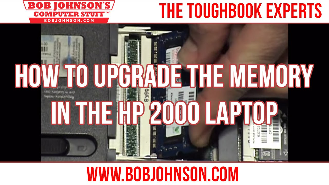 How To Upgrade The Memory In The Hp 2000 Laptop Youtube