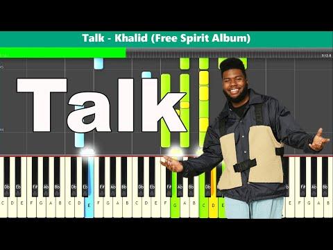 Talk Piano Tutorial - Free Sheet Music (Khalid) thumbnail