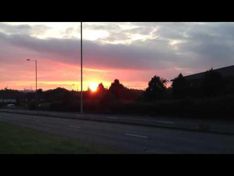 2012 Sept 2 Reading Berkshire England UK GB Sunset