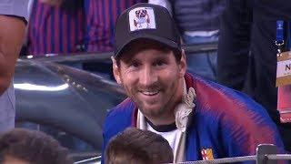 Así vivió Messi el triunfo del Barcelona ante Inter