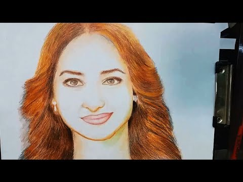 how to draw tamanna bhatia (Indian actor) painting color pencil