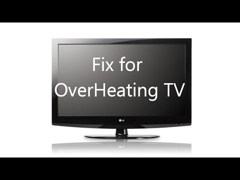 "Overheating TV Fix (LG 42"" Shown)"
