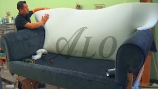 Diy   How To Reupholster A Sofa.   Alo Upholstery
