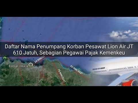 Berikut nama-nama diantara korban penumpang Lion Air