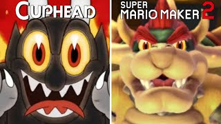 Cuphead Bosses Recreated in Super Mario Maker 2