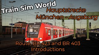 A ts classic is now available for train sim world. the hauptstrecke münchen - augsburg. experience db br 403 ice or 423 on s-bahn.a total...