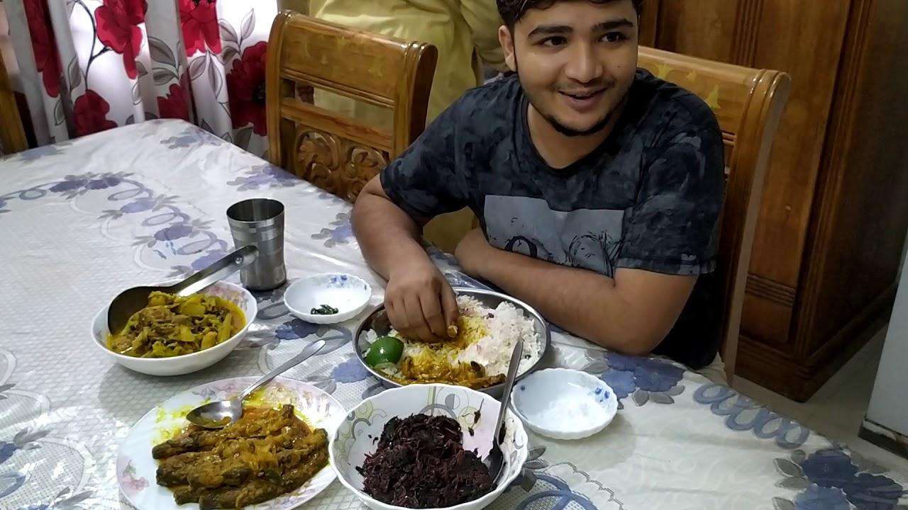 #eatingshow আমার দুপুরের খাওয়া দাওয়া পাবদামাছ ভুনা পাঁচ মিশালি সব্জি লালশাকভাজি