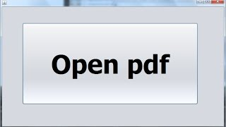 How to Open a PDF File in Java NetBeans