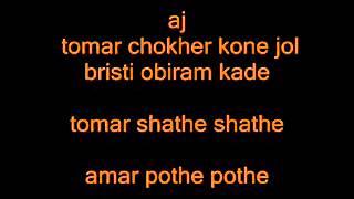 Bangla karaoke aj tomar mon kharap meye bappa moju
