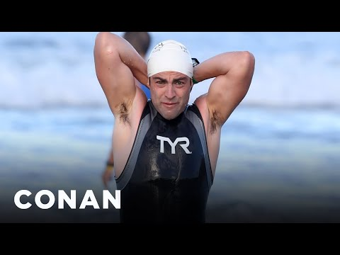 Max Greenfield's Triathlon Was Filled With Wardrobe Changes   CONAN on TBS