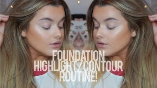 Full Coverage Foundation/Highlight/Contour Routine! | Rachel Leary