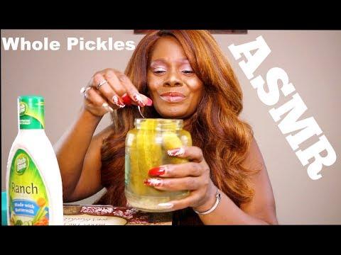 Pickle Eating Sounds ASMR Sk Tingling Crunch