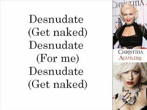 Christina Aguilera - Desnudate (Lyrics On Screen)