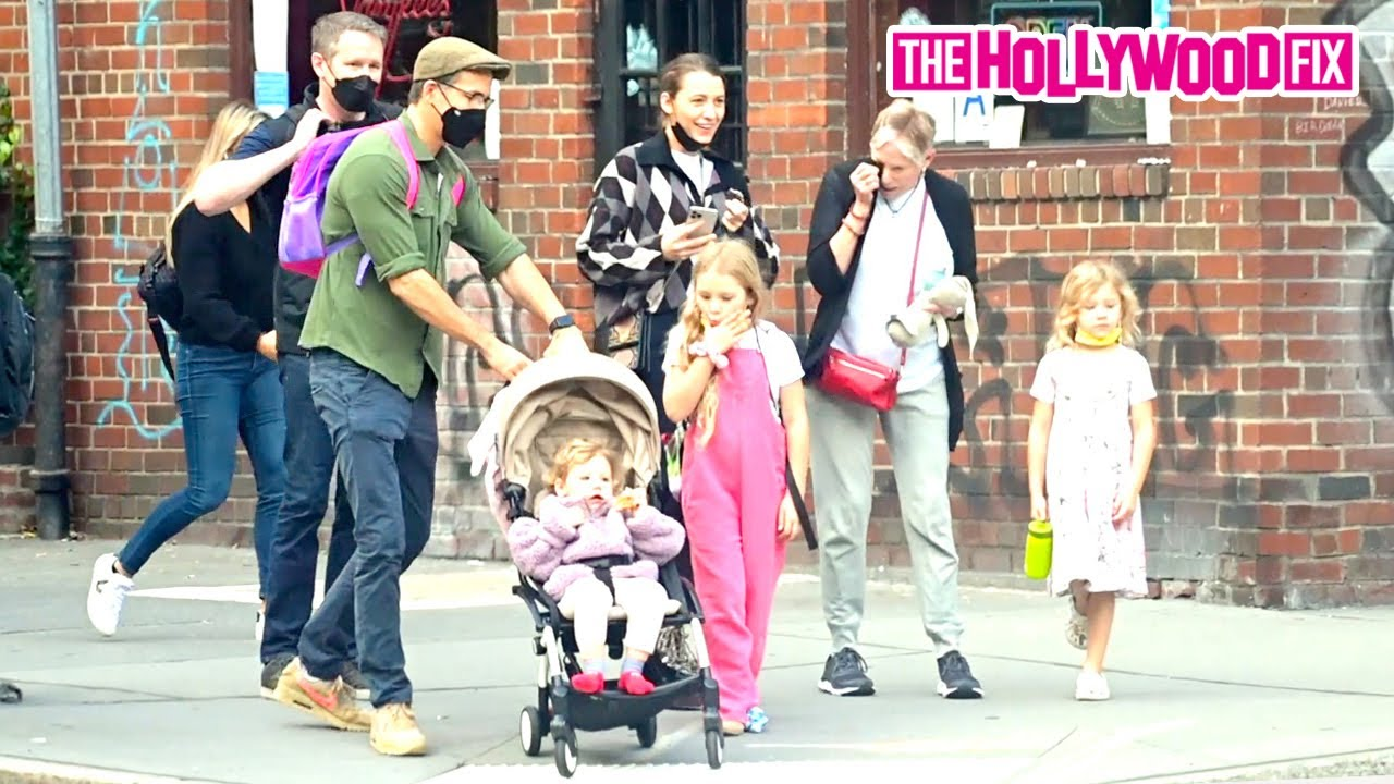 Ryan Reynolds & Blake Lively Have Fun With Their Daughters While Out On An Afternoon Walk In N.Y.