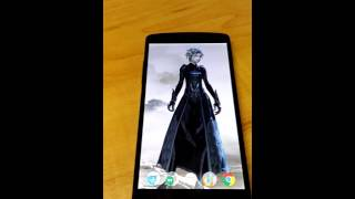 Android Live Wallpaper : Guildwars 2 character select looping video
