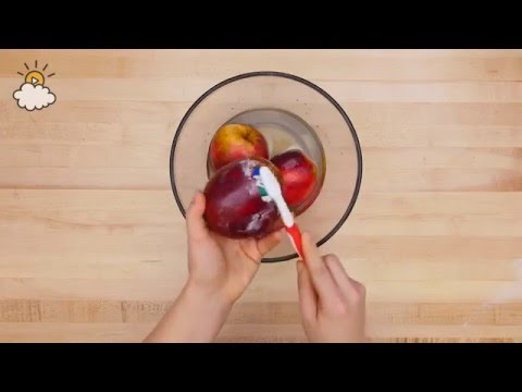 How to clean wax off your apples