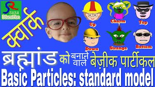 Quarks Bosons and leptons for beginners   Standard Model Of elementary Particles Physics in hindi