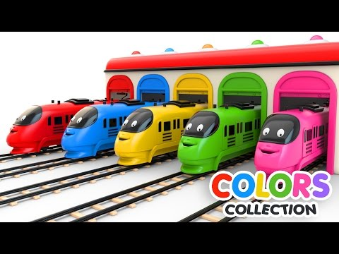 Colors for Children to Learn with Toy Trains - Colors Videos