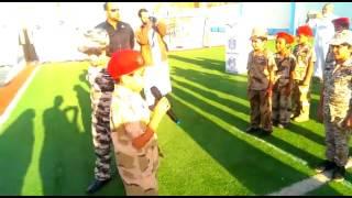 مهرجان العرض العسكري لطلاب صف ثالث بمدارس الرواد ببريدة   2