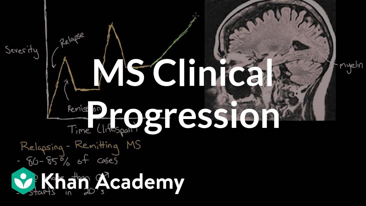 Clinical progression of multiple sclerosis (video) | Khan Academy
