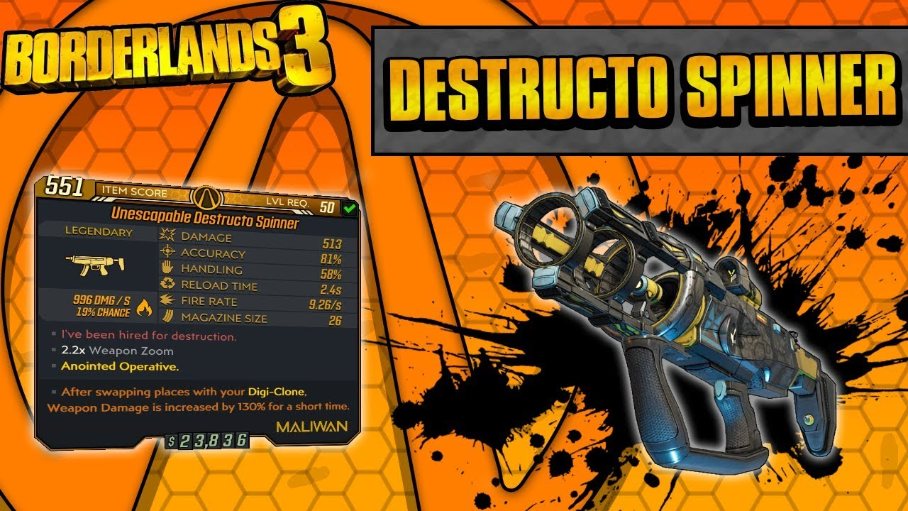 Borderlands 3 | Destructo Spinner Legendary Weapon Guide (Elemental Smoothie!) thumbnail