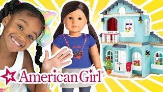 American Girl Sleepover! AG Doll Spiel-Bau Spielplatzgeräte - Schlafzimmer Puppenhaus