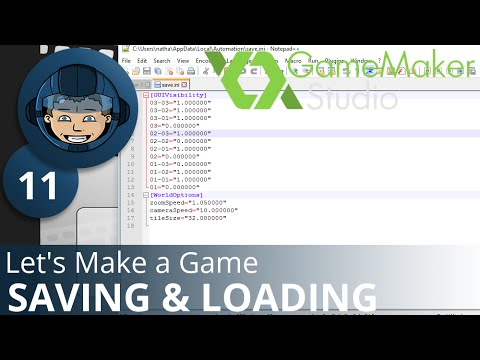 SAVING & LOADING - Let's Make A Game: Ep. #11 - Project Automation - Game Maker Tutorials