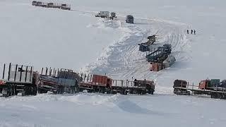 Зимник 2021, край земли часть 2,аварии,тяжёлый подъём