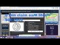 1 hour 22200 litoshi earn site ( 5 min claim 500-5000 earn litoshi )