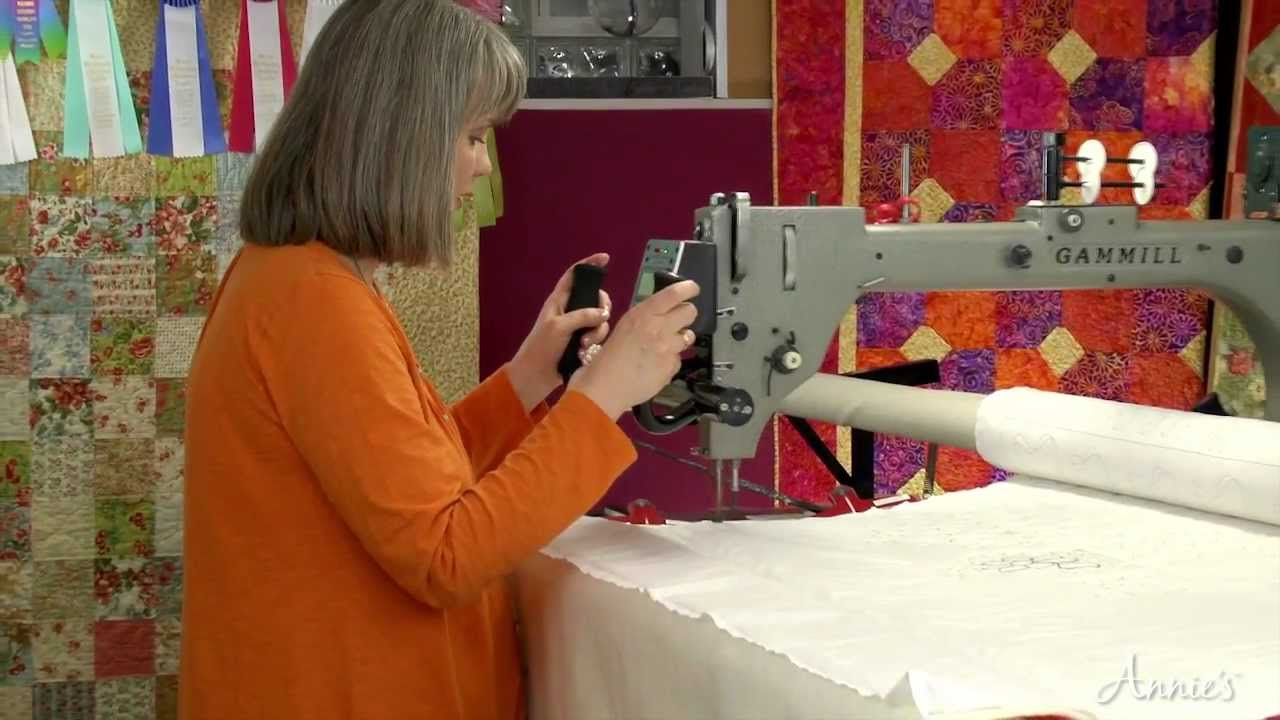 Learn How To Use A Long Arm Quilting System An Annies Video Class