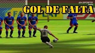 FIFA 2005 - DANDO GOLEADA - GOL DE FALTA
