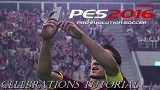 PES 16 DEMO   All Celebrations Tutorial (Totti's Selfie)