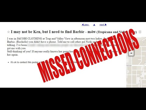 Craigslist Missed Connections Prank Call - YouTube