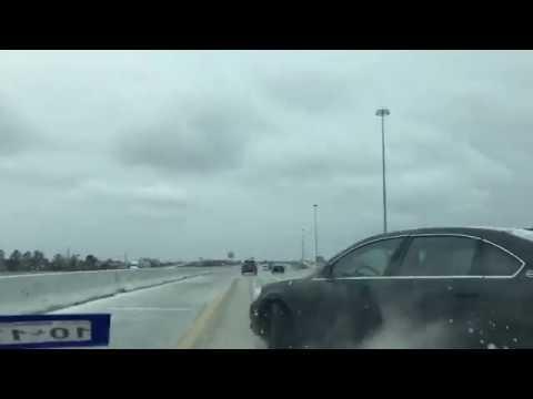 Houston snow weather car wreck