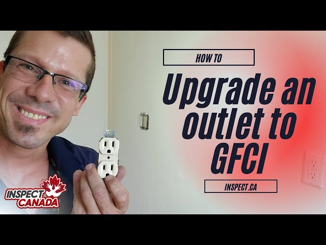 How to install a GFCI outlet.