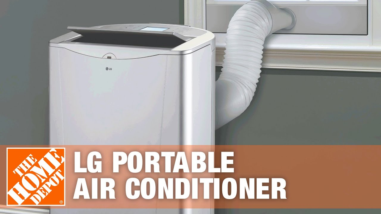 Portable Ac Home Depot Lg 14 000 Btu Portable Air Conditioner With Heat Dehumidifier The Home Depot