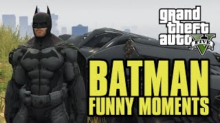 GTA 5 BATMAN MOD!! Fighting Crime! Saving Gotham! (GTA 5 Funny Moments & Mods!!)