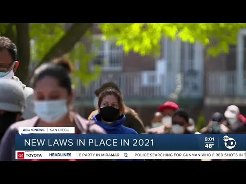 New California laws in place in 2021