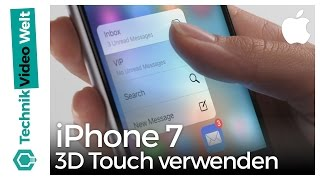 iPhone 7 3D Touch verwenden