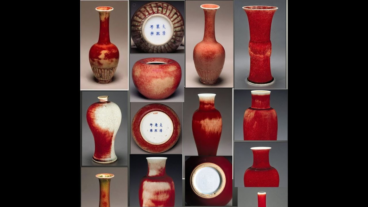 Chinese Porcelains Copper Red Peachbloom Glazes Youtube