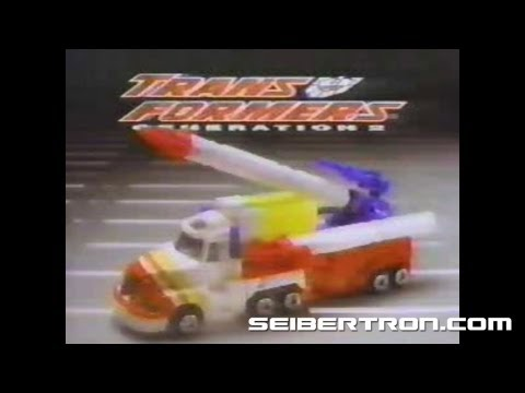 Transformers G2 Combat Hero Megatron and Optimus Prime Generation 2 commercial #1