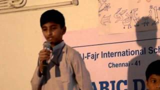 The best arabic speech by Haaris