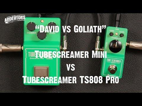 """""""David vs Goliath"""" - Ibanez TubeScreamer Mini vs TubeScreamer TS808 Pro"""