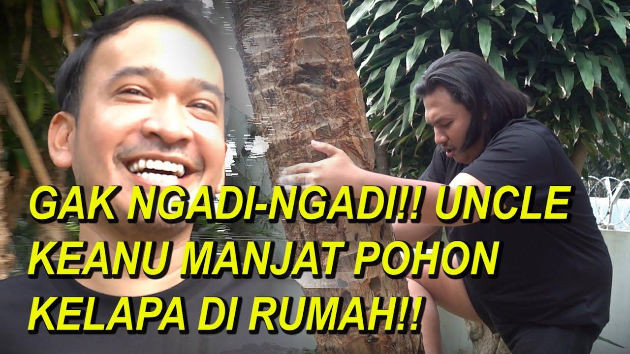 The Onsu Family - GAK NGADI-NGADI!! UNCLE KEANU MANJAT POHON KELAPA DI RUMAH!!