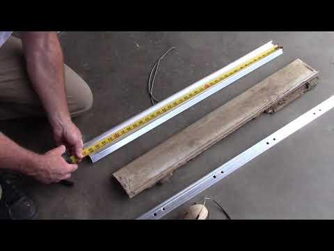 Replacing a damaged door threshold.