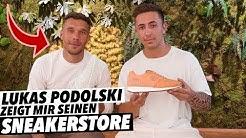 Lukas Podolski zeigt mir seinen SNEAKERSTORE!