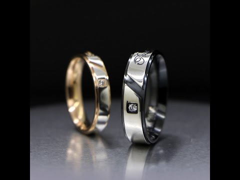 Engraved Titanium True Love Promise Couples Rings Set for Two