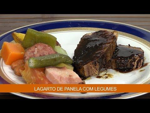 LAGARTO DE PANELA COM LEGUMES