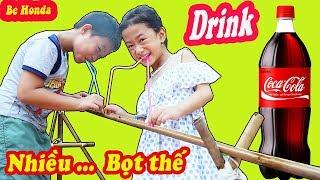 Uống CoCa bằng máng nước - Sao lại nhiều bọt thế này | Be HOnda